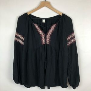 Old Navy Women's Embroidered Tassel Top